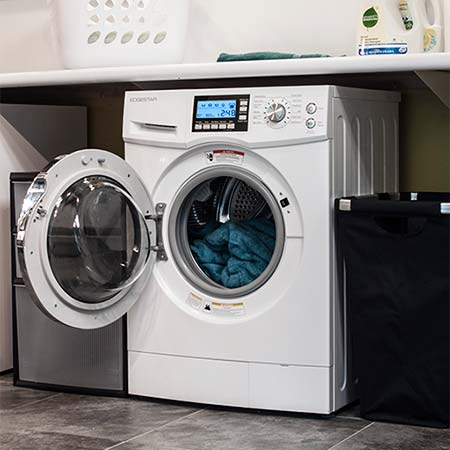 Clothes dryer being repaired in Richmond BC by a Top Appliance Repair Richmond technician.