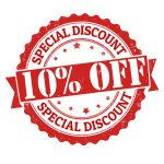 Get 10% off as a returning customer or by redeeming your senior's discount.