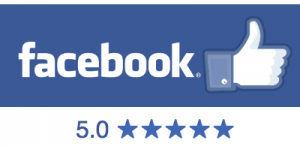 We are rated 5 stars on Facebook.